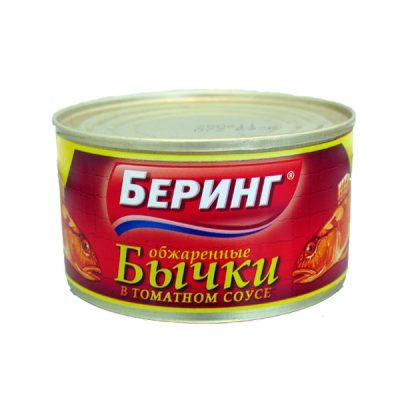 Бычки в томатном соусе Беринг