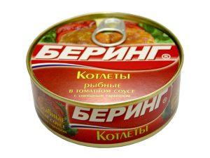 Котлеты рыбные в томатном соусе Беринг