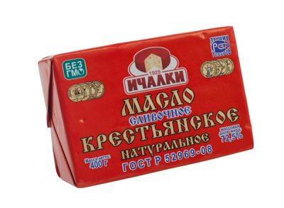 Масло крестьянское 72,5% 400гр Ичалки