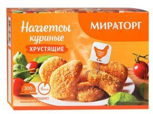 Наггетсы куриные хрустящие 300гр Мираторг