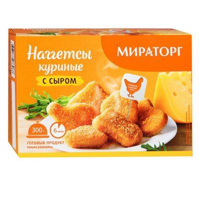 Наггетсы куриные с сыром 300гр Мираторг