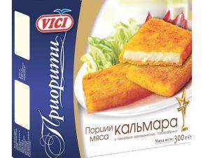 Порции мяса кальмара в панировке VICI