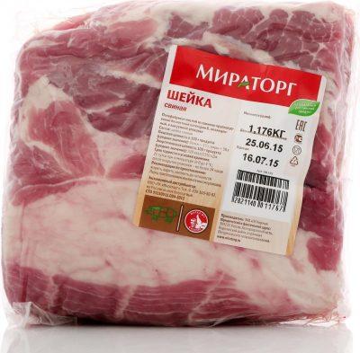 Свинина шейка замороженная Мираторг