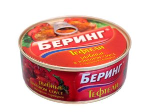 Тефтели рыбные в томатном соусе Беринг