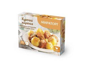 Курочка жареная с молодым картофелем в сливочном соусе Мираторг