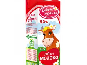 """Молоко ультрапастеризованное """"Добрая буренка"""" 3,2% 0,95 л"""