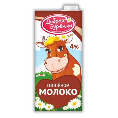 """Молоко топленое 4% """"Добрая Буренка"""" 0,95 л"""
